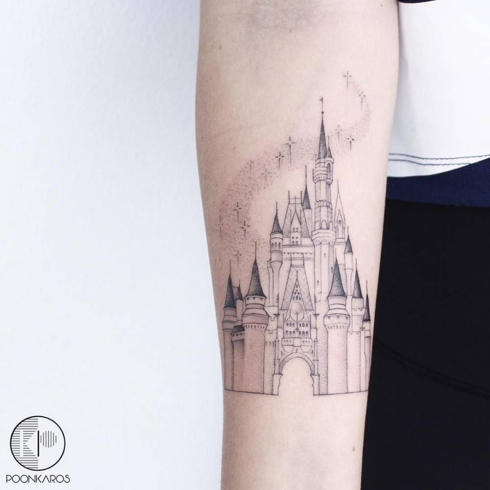 Disney Castle Tattoo On The Right Inner Forearm Inner Forearm