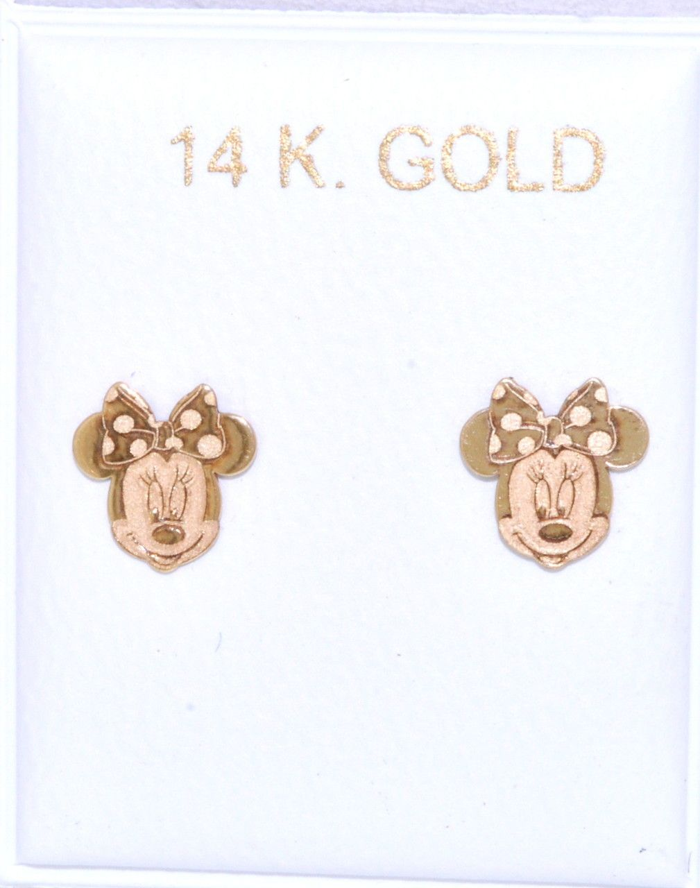 Love these! #minniemouse #earrings  (http://shop.shinjewelers.com/14k-yellow-gold-minnie-mouse-earrings-screw-backs-40002161/)