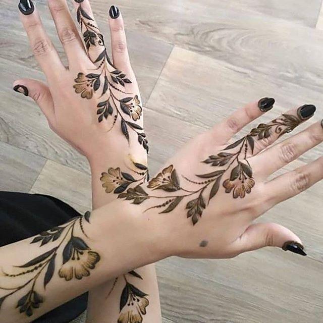 صور نقش الحناء Hand Henna Legs Mehndi Design Henna