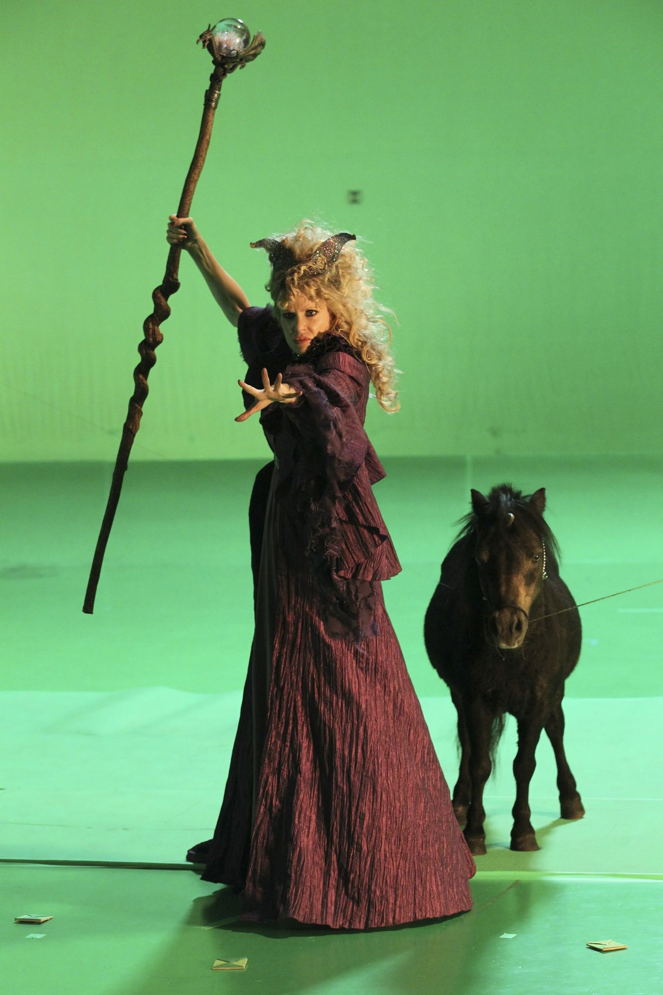 Maleficent And Her Pet Unicorn Ouat Ouat Green Screen
