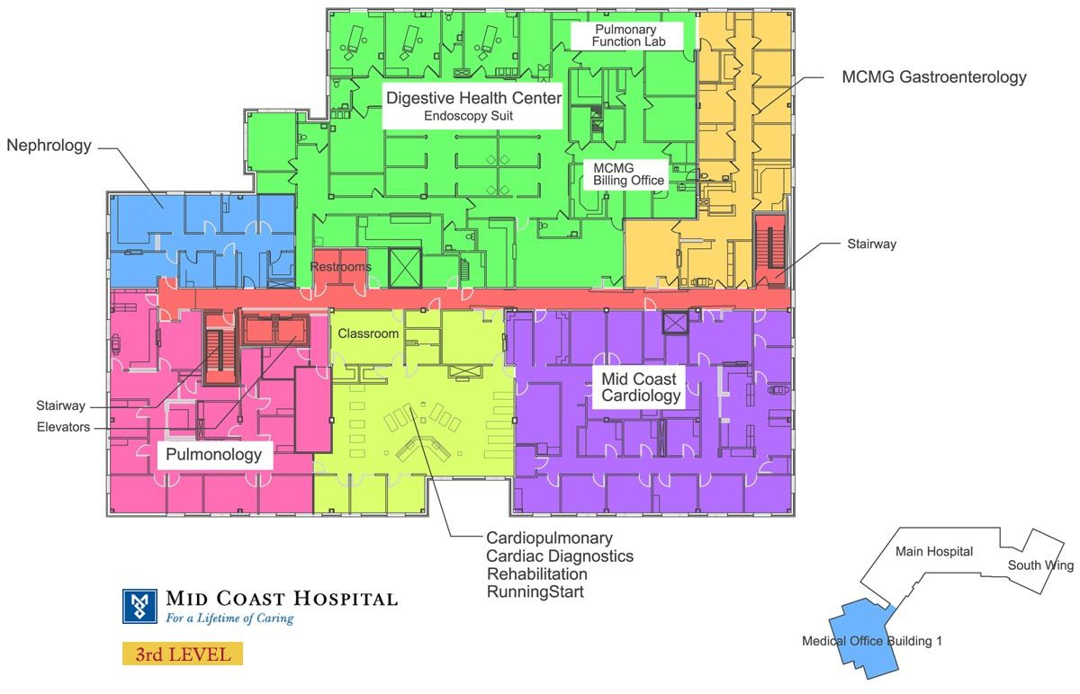 Mid Coast Hospital Floor Plans Level 3 Medical Center