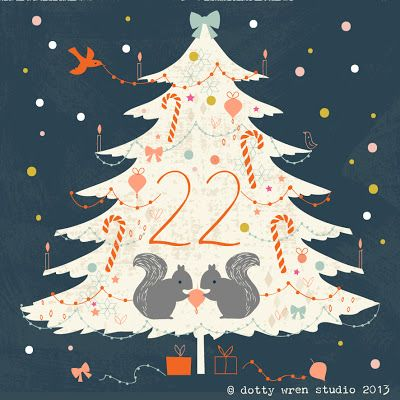 dottywrenstudio advent calendarday 22 παιδικα Pinterest