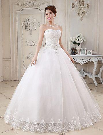Ball Gown Sweetheart Lace Floor-length Wedding Dress - USD $ 49.99