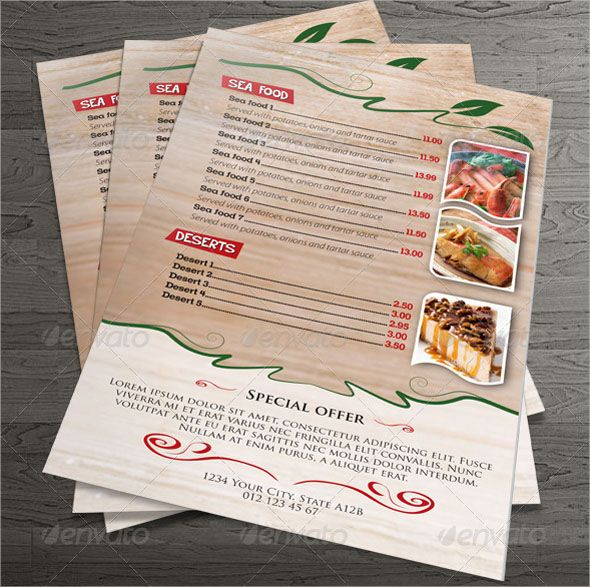 Restaurant Menu Design Template Collections  Restaurant Menu