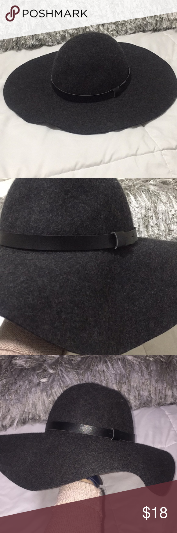 9cbef243fe19e H M Grey Wool Floppy Hat US L 58 Soft wool hat. Worn once. H M Accessories  Hats