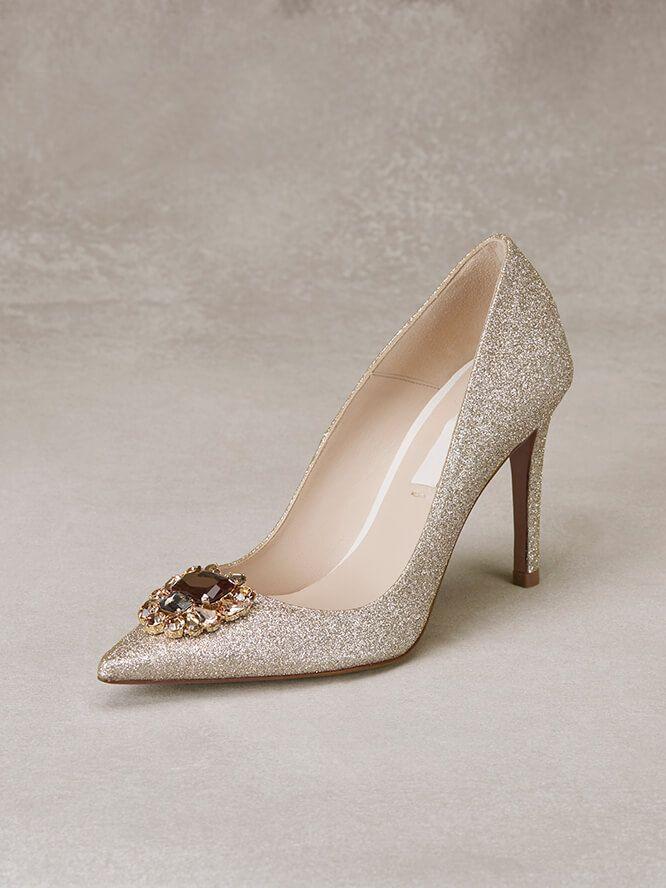 Resultado de imagen para zapatos. TELMA - Zapato de novia de tipo salón con  glitter y pedrería fe2aef105973