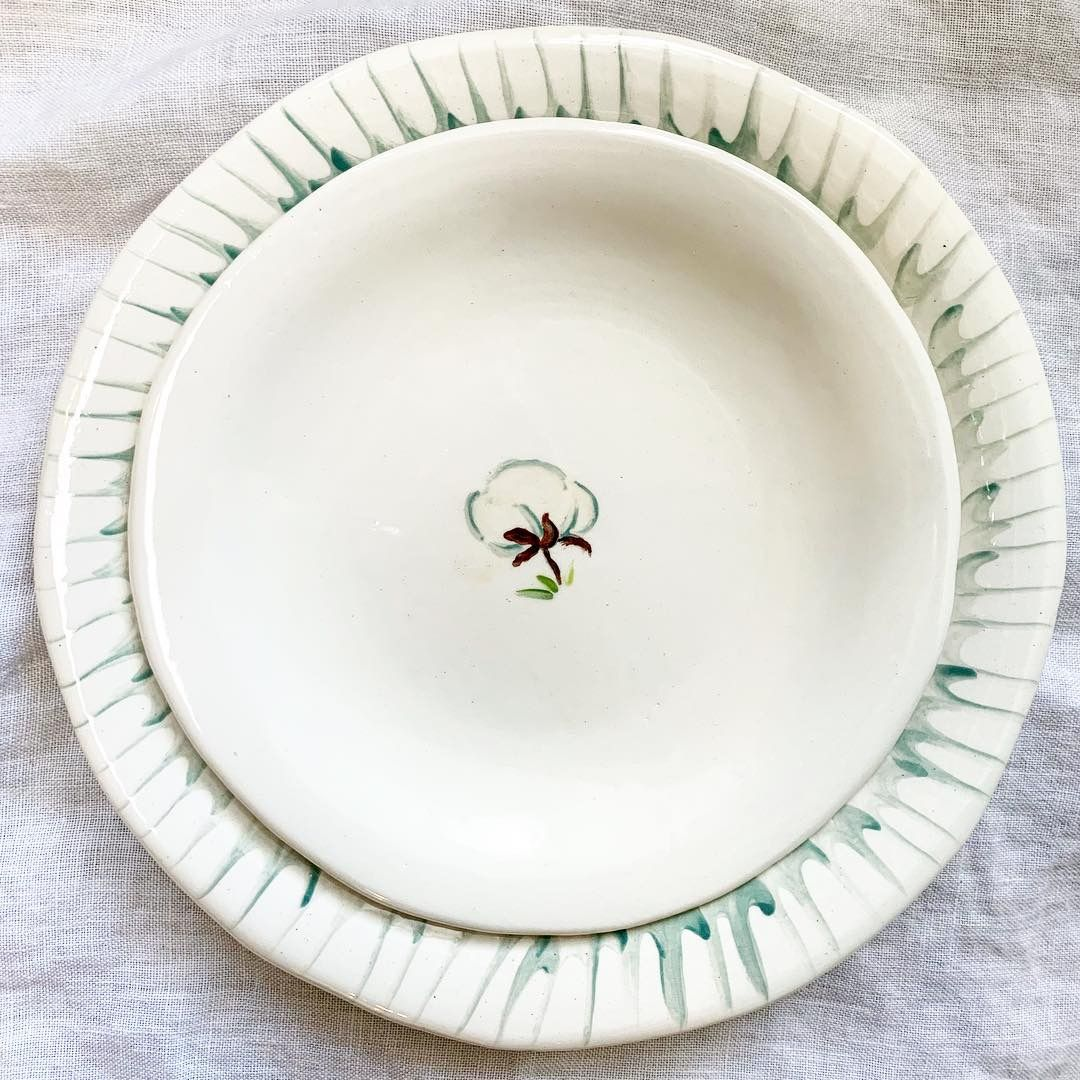 Pin By The Ceramic Cottage Company On Cotton Table Ceramics Ceramics Tableware Plates