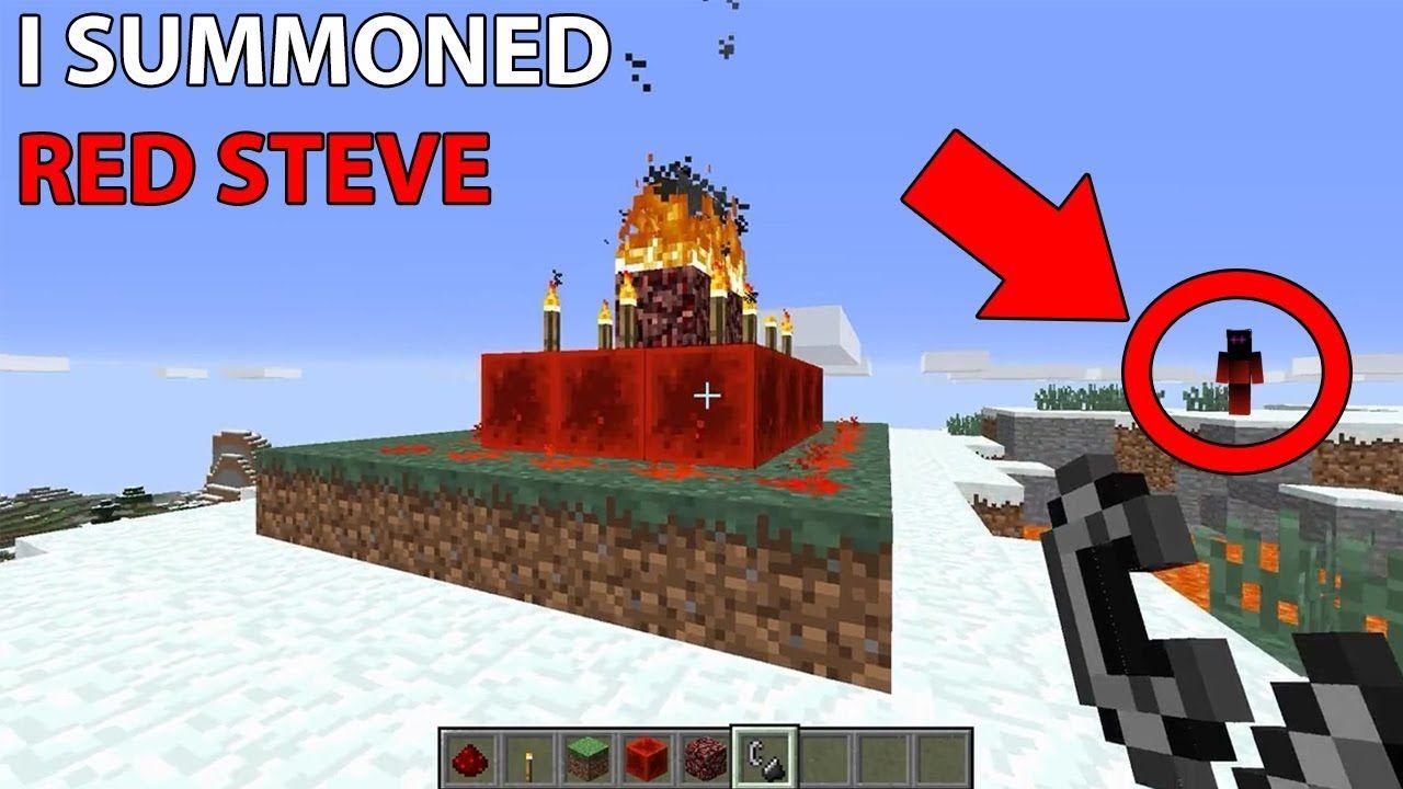 darkcorners minecraft green steve youtube how to summon red steve