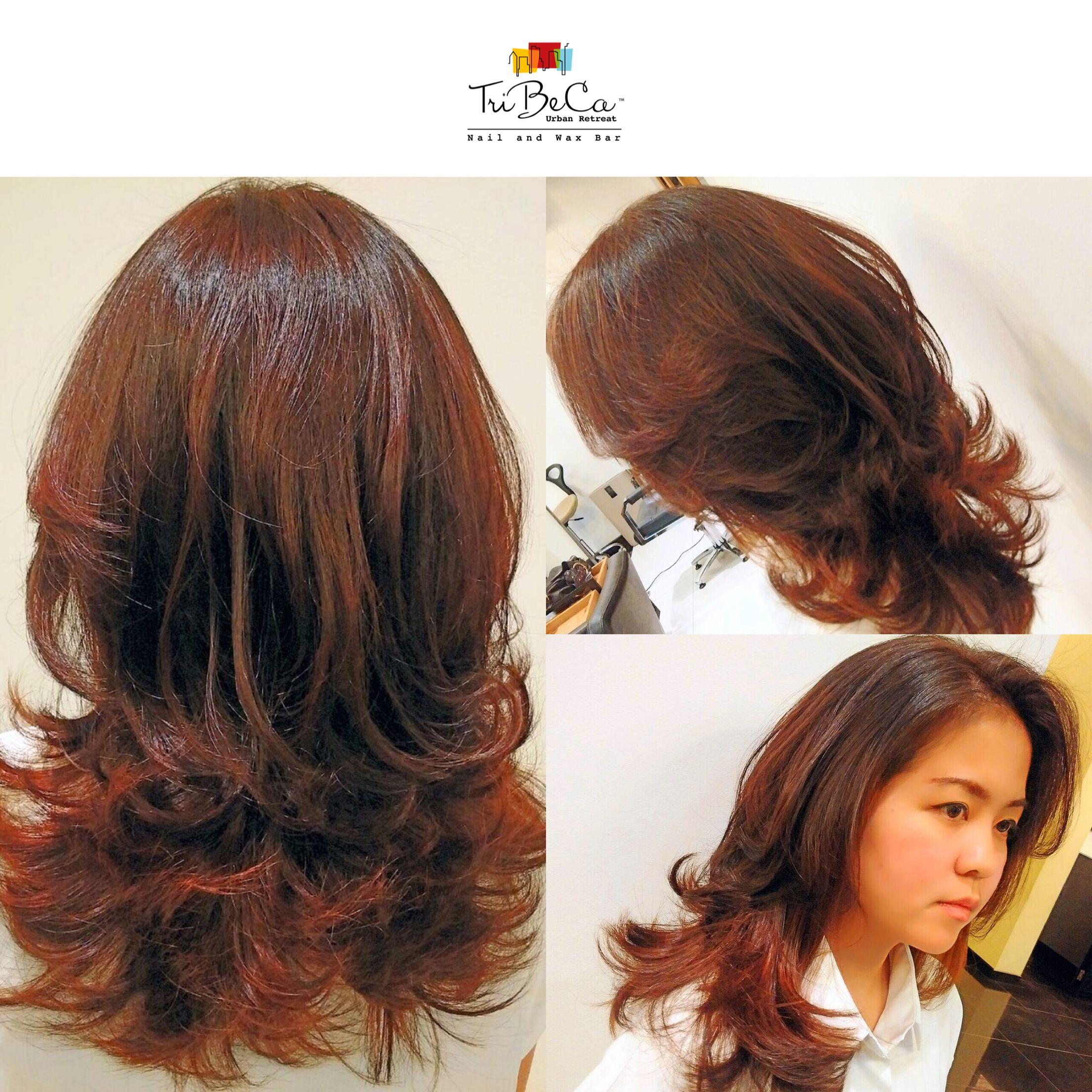Gradation Hair Color And Haircut For Windy Ilovetribeca Tribecaurbanretreat Haircut Haircolor Salon Bandung