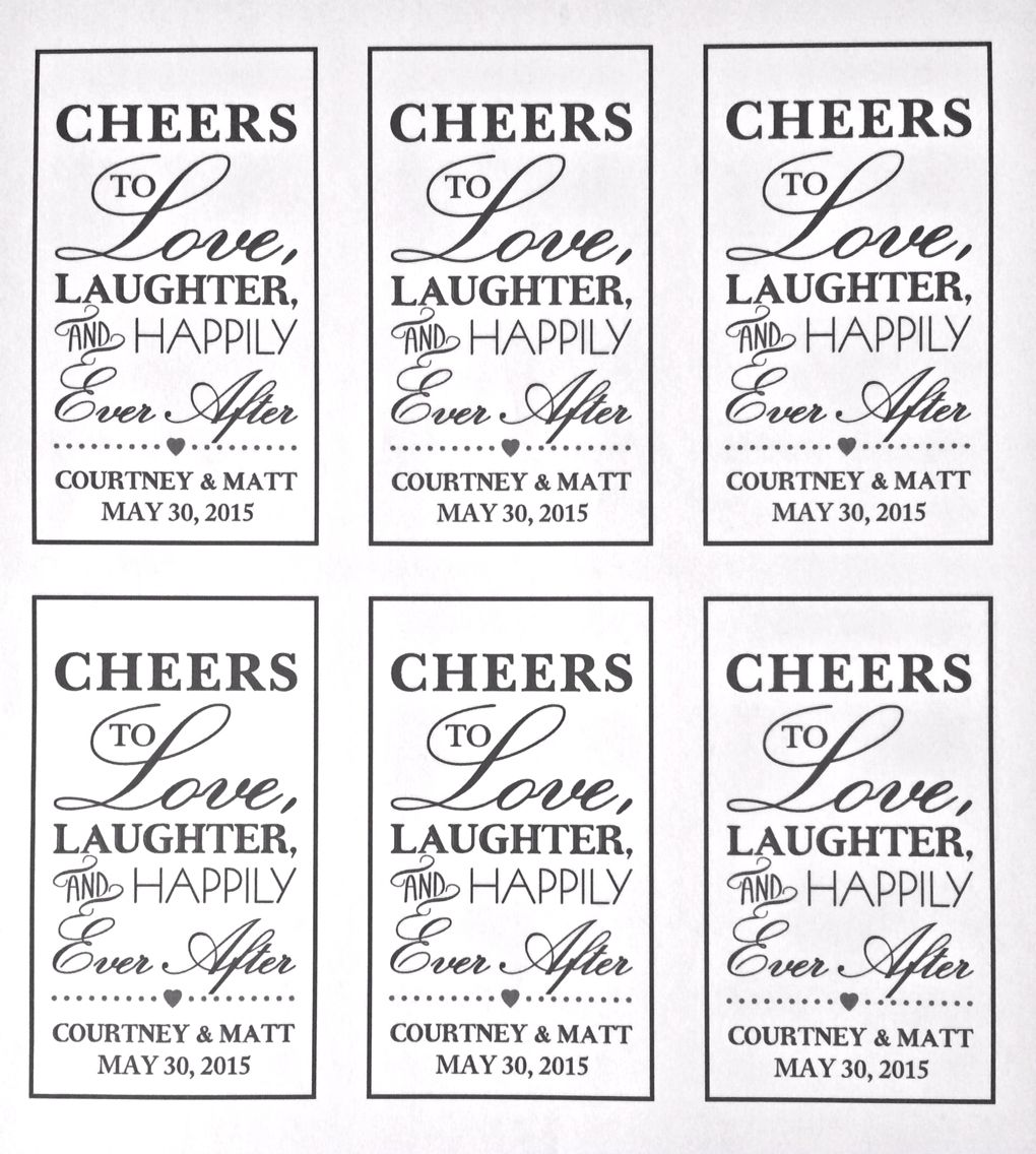 """Download """"Cheers to love, laughter, and happily ever after"""" tags ..."""