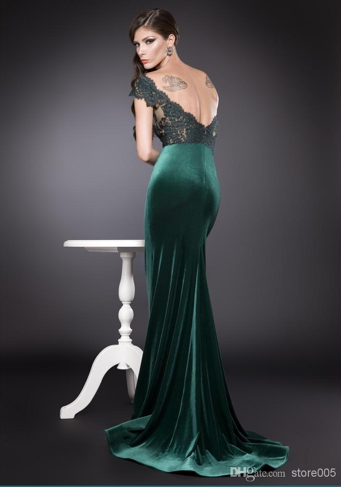 Lace and velvet prom dress | Velvet 3 | Pinterest | Prom, Green ...
