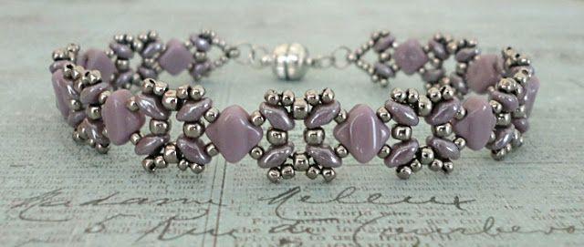Bracelet of the Day: Sandra Silky - Lilac & Silver