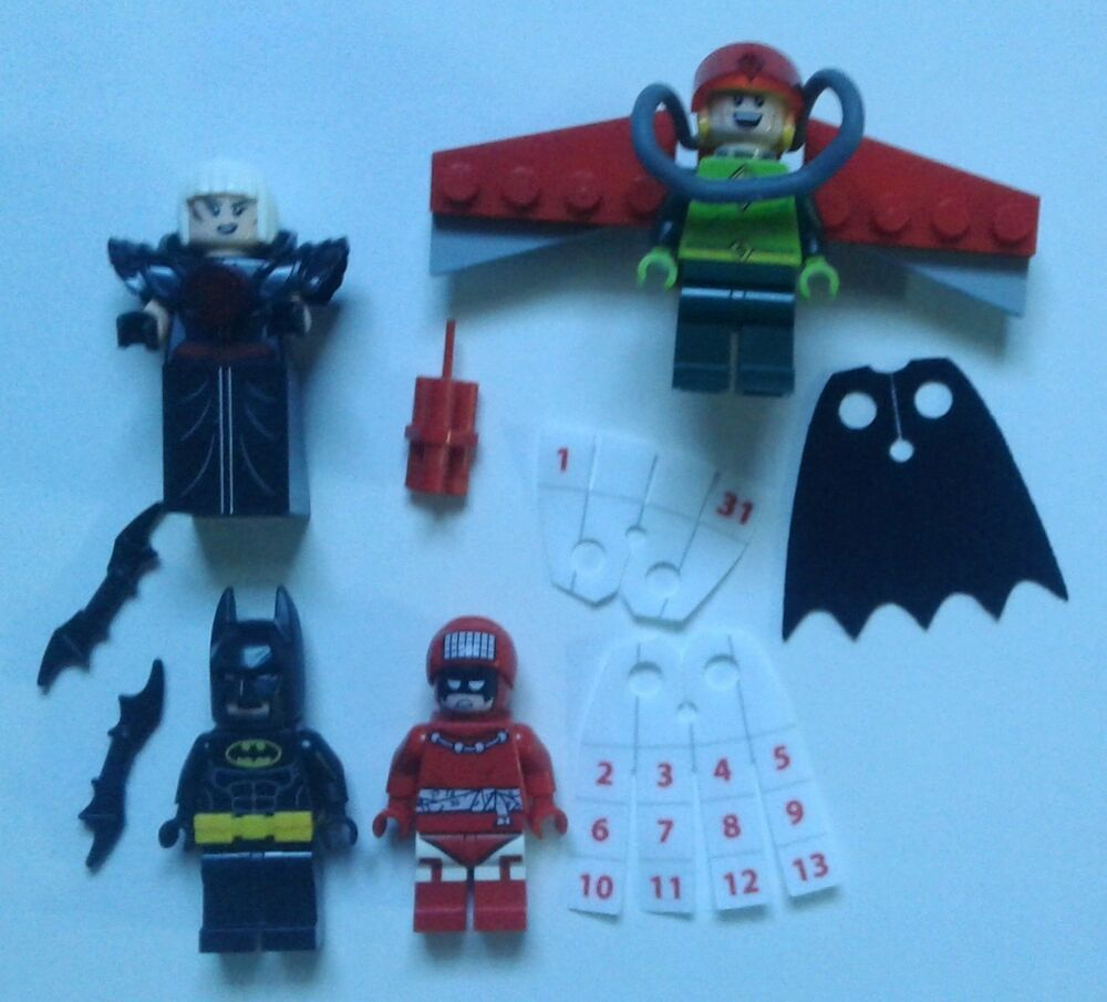 LEGO DC batman Movie 4x MINIFIGURES ONLY from 70903 Magpie
