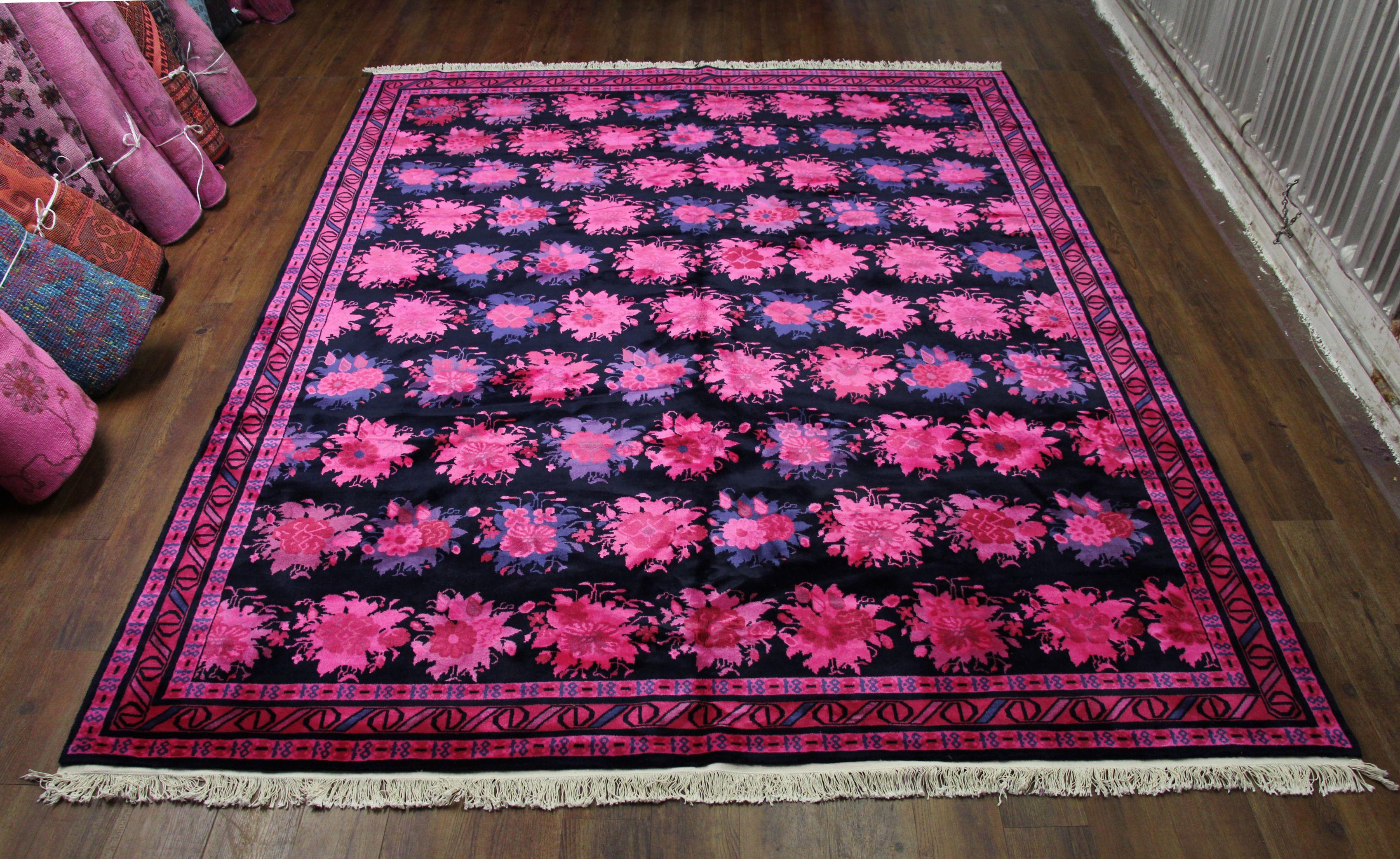 pink navy overdyed rug bruin blog. Black Bedroom Furniture Sets. Home Design Ideas