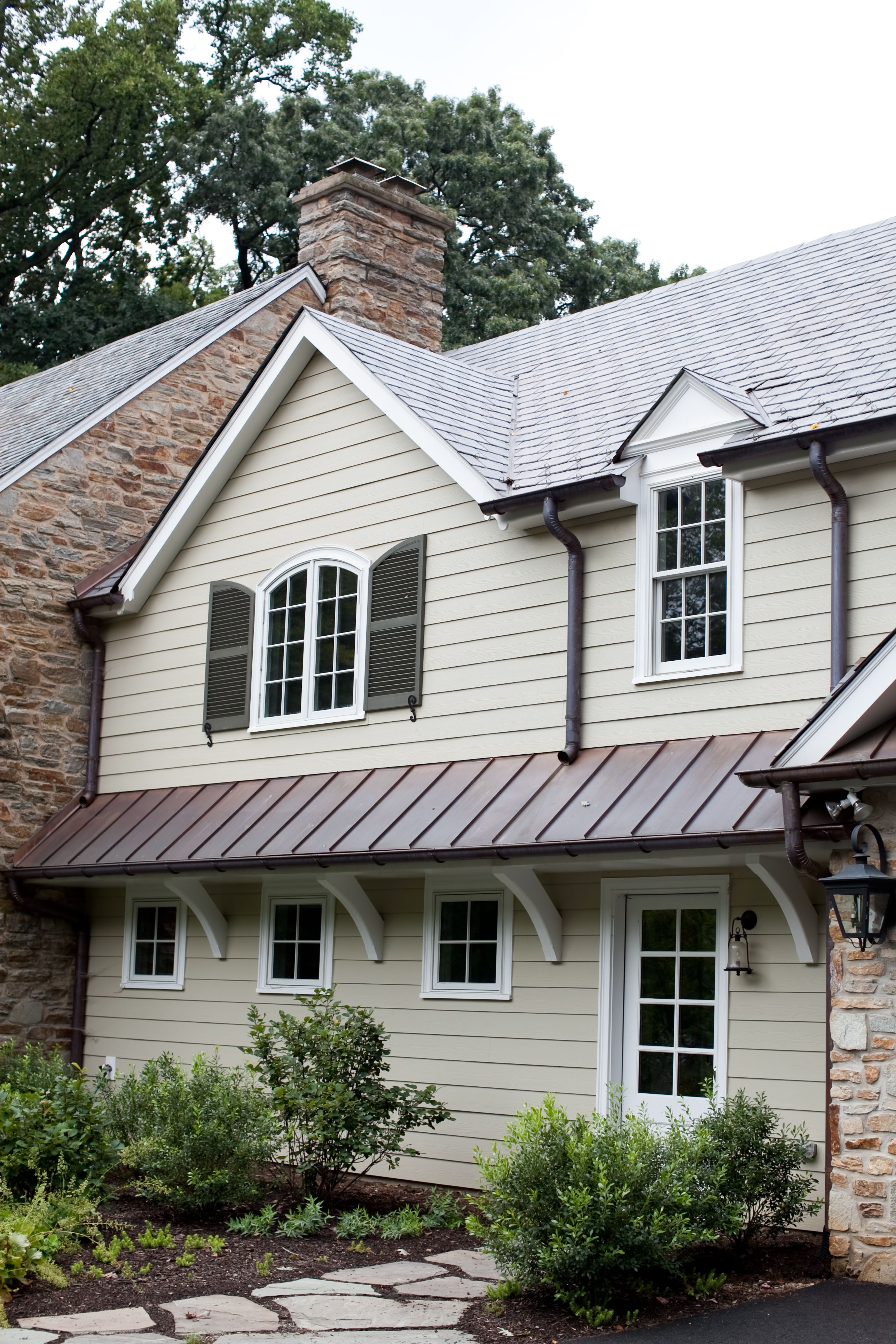 Dark Copper Roof House Exterior Architecture Details Copper Roof