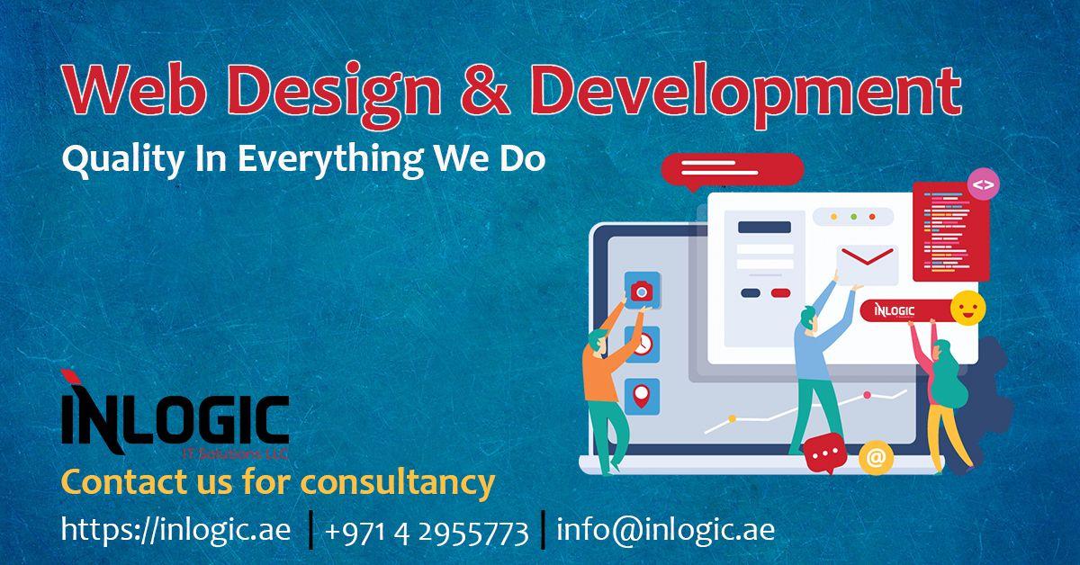 Inlogic We Design Development Stunning Websites Web Development Design Design Development Quality Web Design
