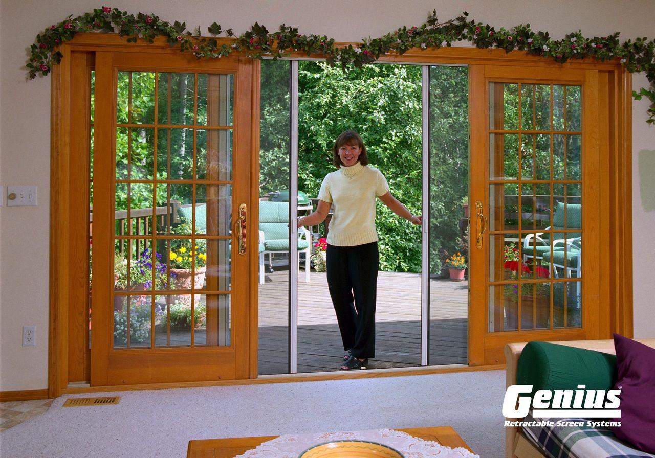 Genius French Retractable Screen Door Sliding French Doors French Doors With Screens Retractable Screen Door