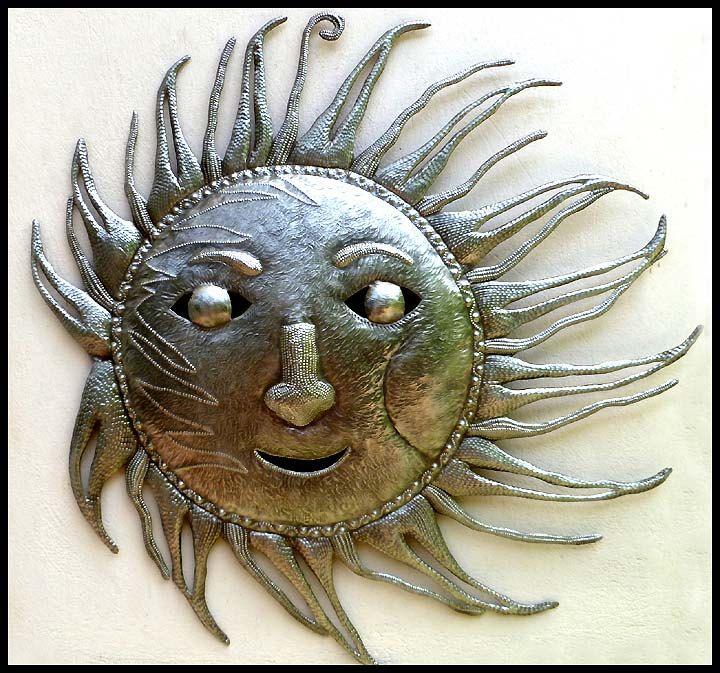 Metal Sun Wall Hanging, 34\