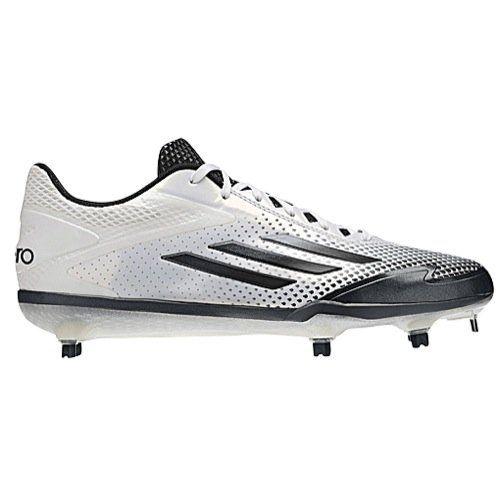 Adidas Adizero Afterburner 2.0 Mens Baseball Cleat 14 White-Grey Met-Carbon  Met