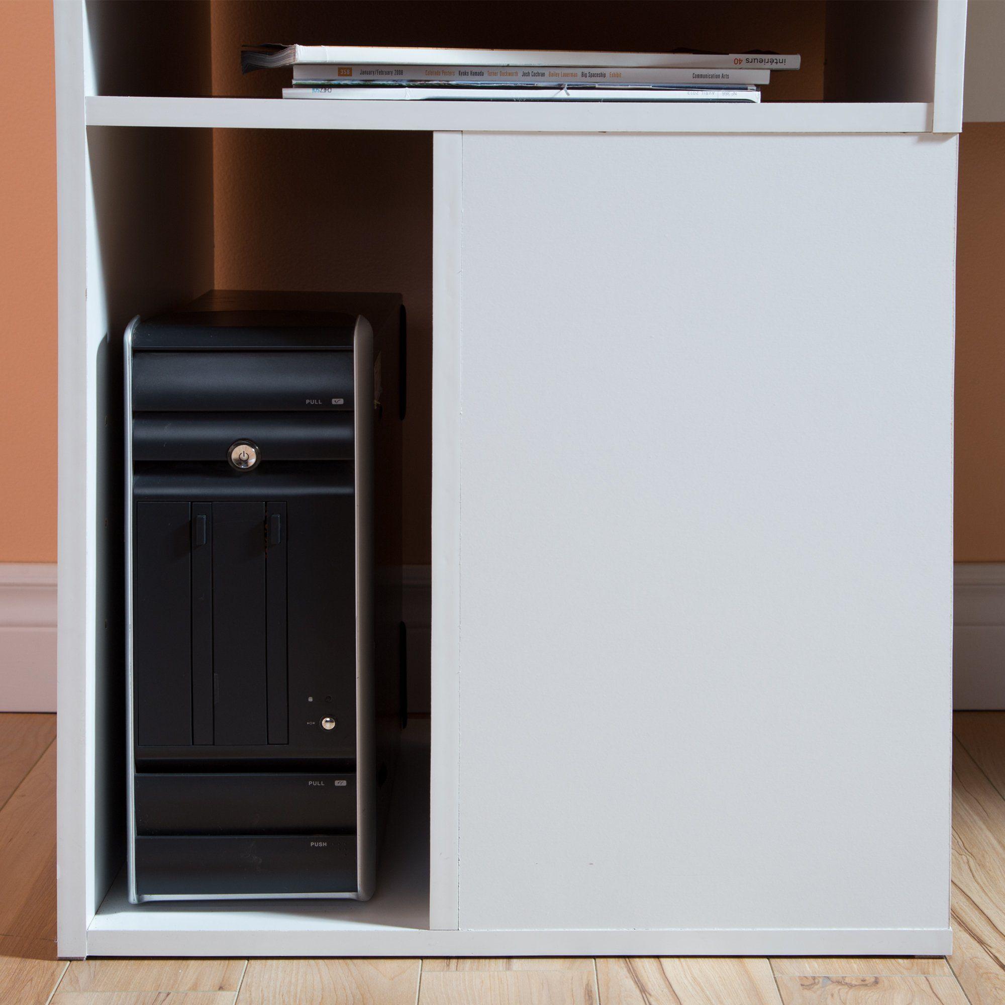 White Home Office Computer Desk - Annexe