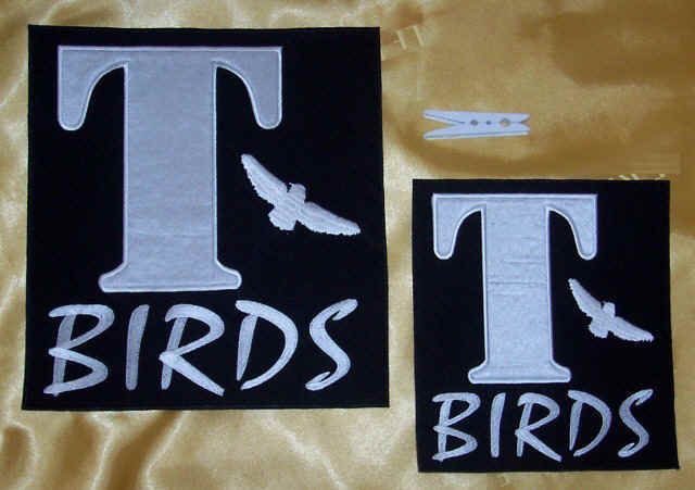 2 X Iron On T Bird Patches Adults + Childs DIY Your Jacket