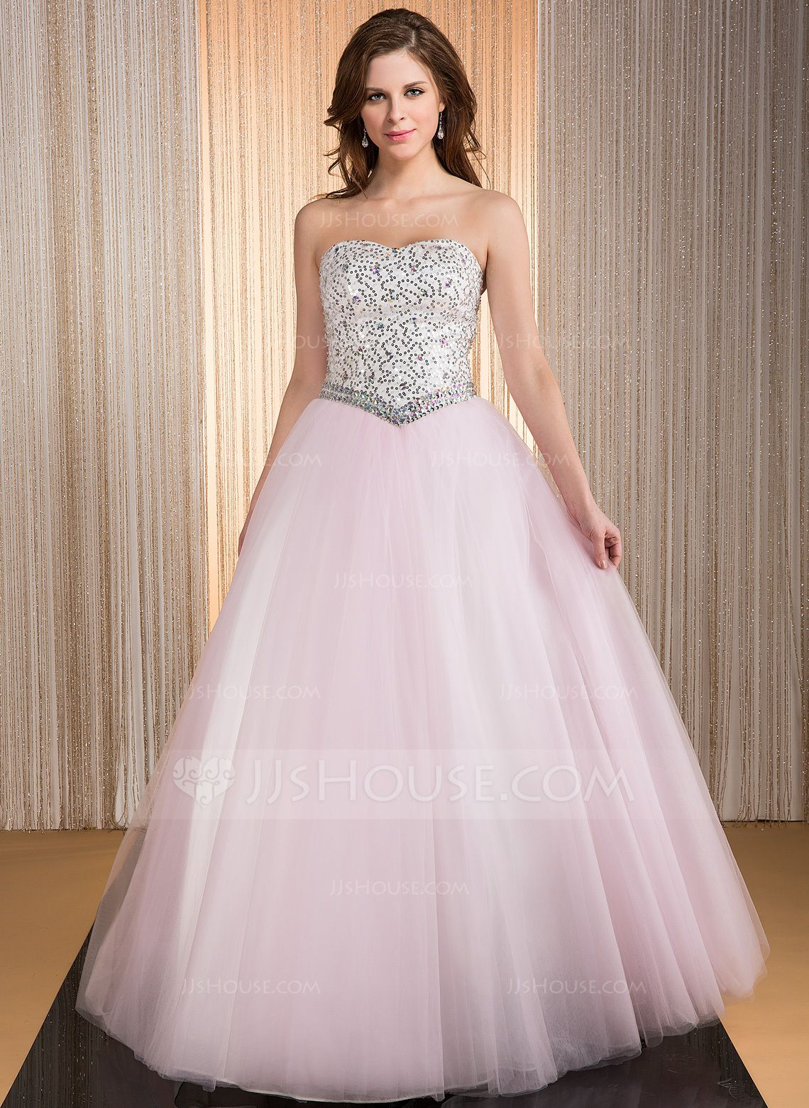 4f46051b674 Tulle Sweetheart Beading Ball Gown Floor Length Quinceanera Dress ...