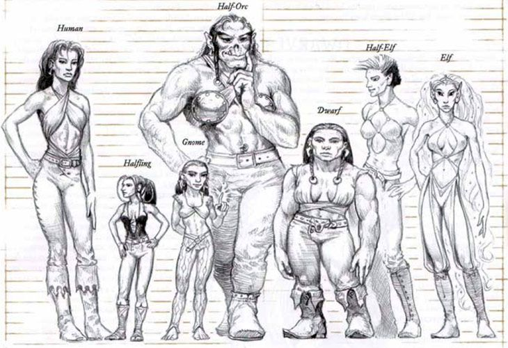 Dungeons and dragons races fantasy also misc pinterest rh