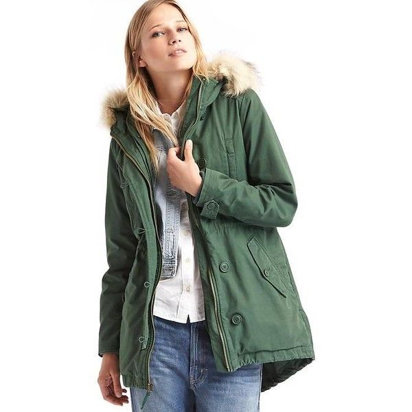 Gap Women 2 In 1 Hooded Parka (€155) ❤ liked on Polyvore ...