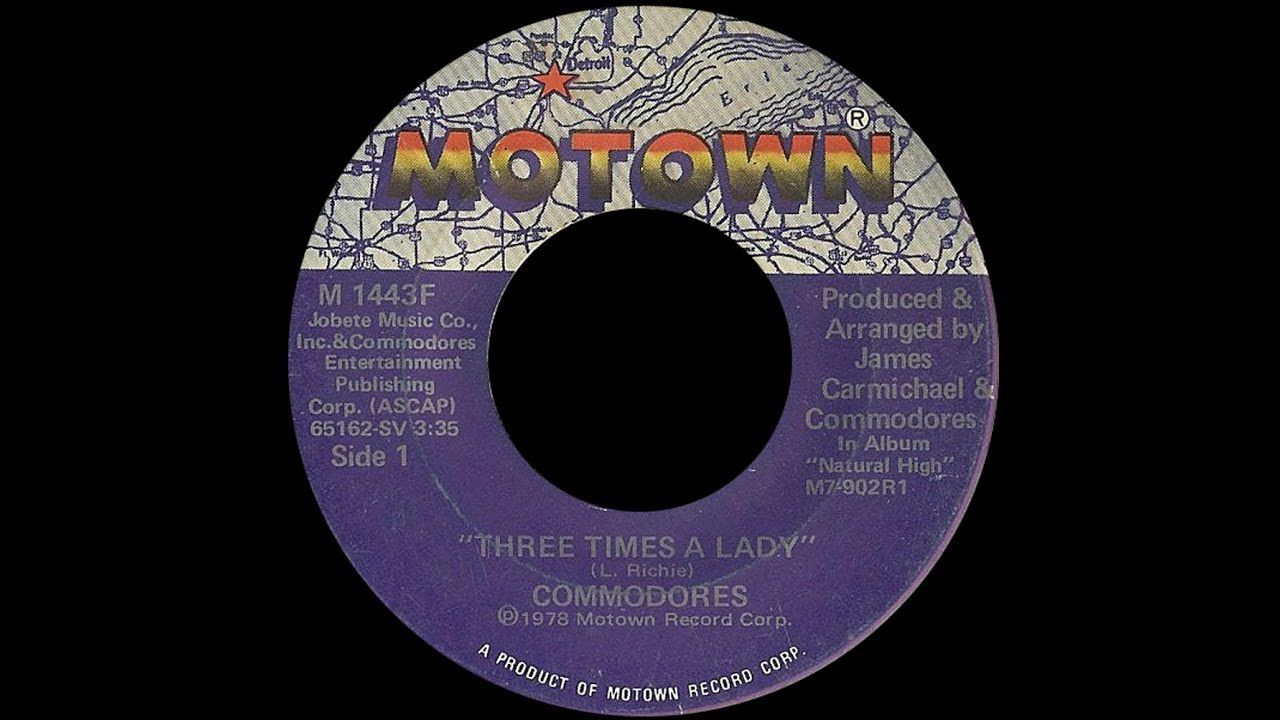 The Commodores Three Times A Lady 1978 Soul Purrfection Version Commodores Music Record Motown