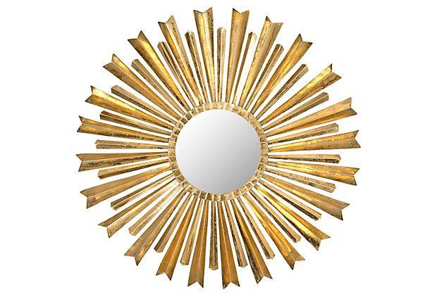 Morgan Sunburst Wall Mirror, Gold on OneKingsLane.com | DECOR ...
