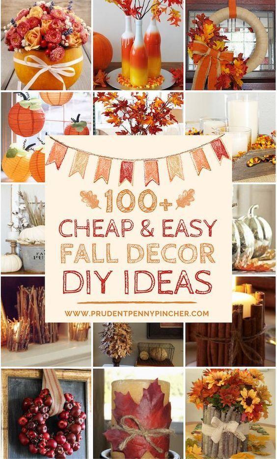 100 Cheap and Easy Fall Decor DIY Ideas #diyfalldecor