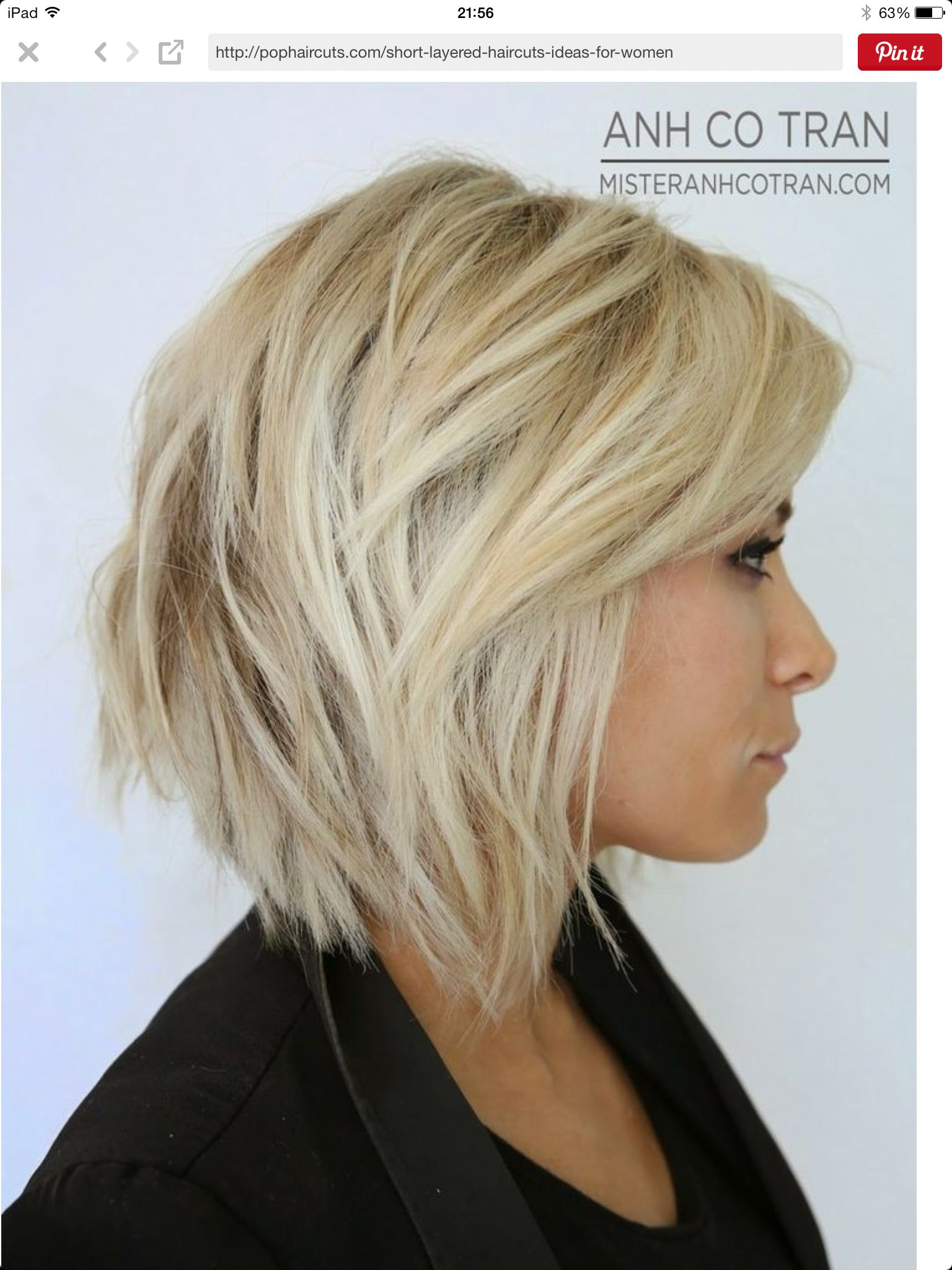 Pin by julie ouconnell on hair pinterest bobs