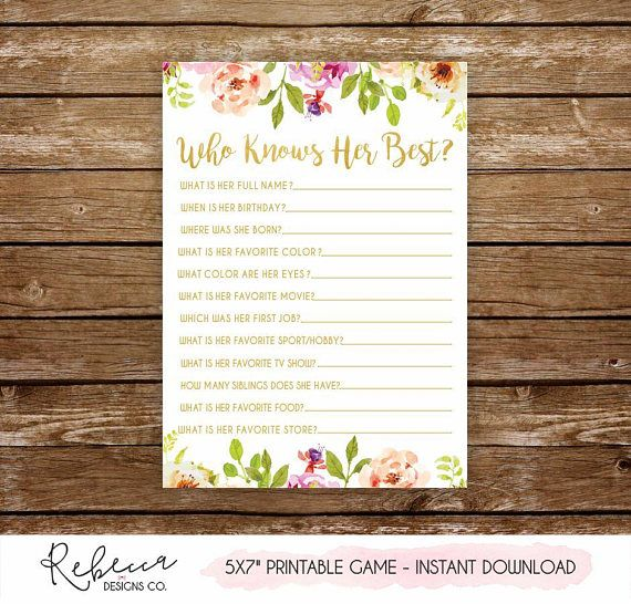 Items Similar To 1947 Birthday Trivia Game: Who Knows Her Best Printable Birthday Game Bridal Shower