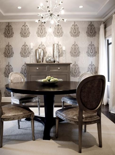 Gray Dining Room Transitional Dining Room Amoroso Design