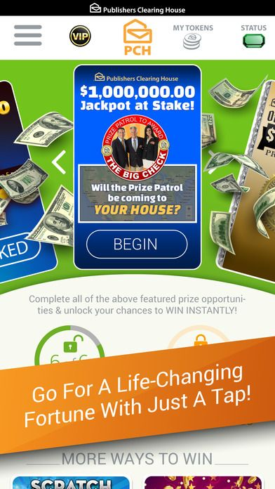 The PCH App Cash Prizes, Sweepstakes & Mini Games by