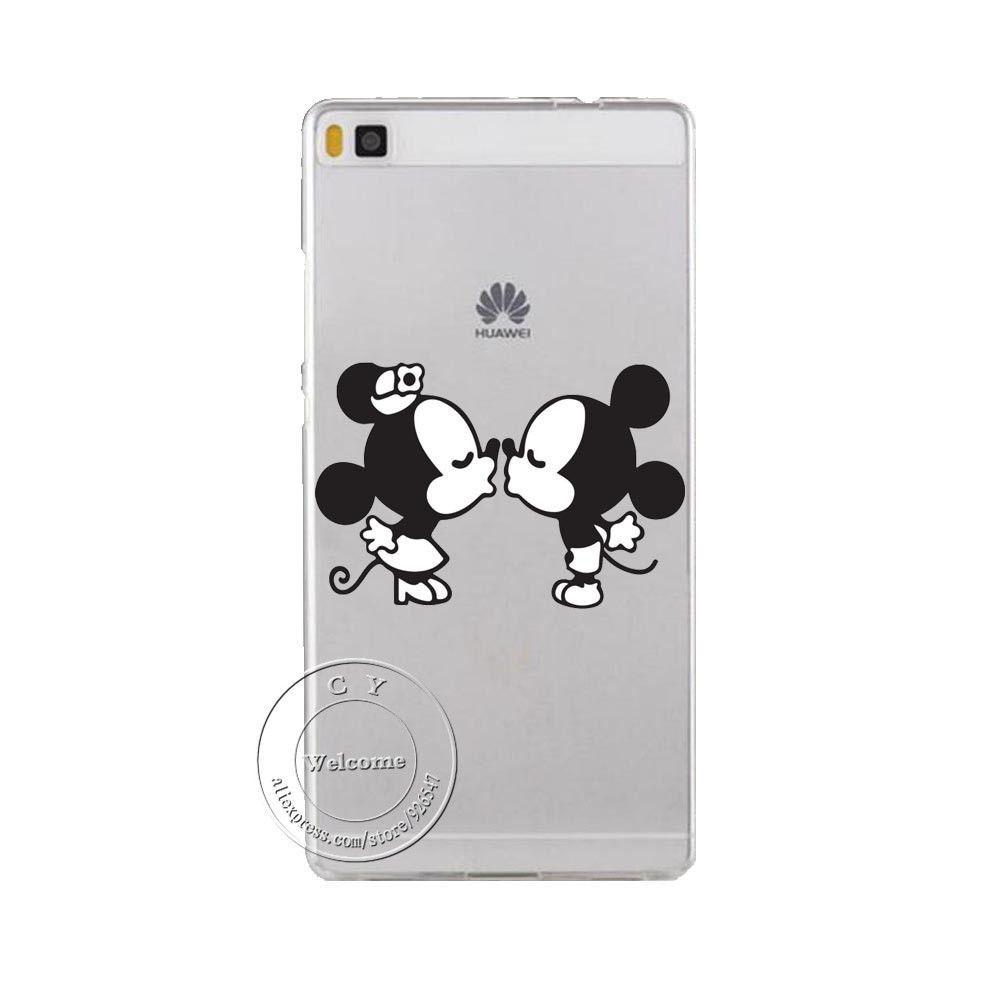 Super Cute Minions Cat Mickey & Minnie Kiss Hard Plastic Case ...