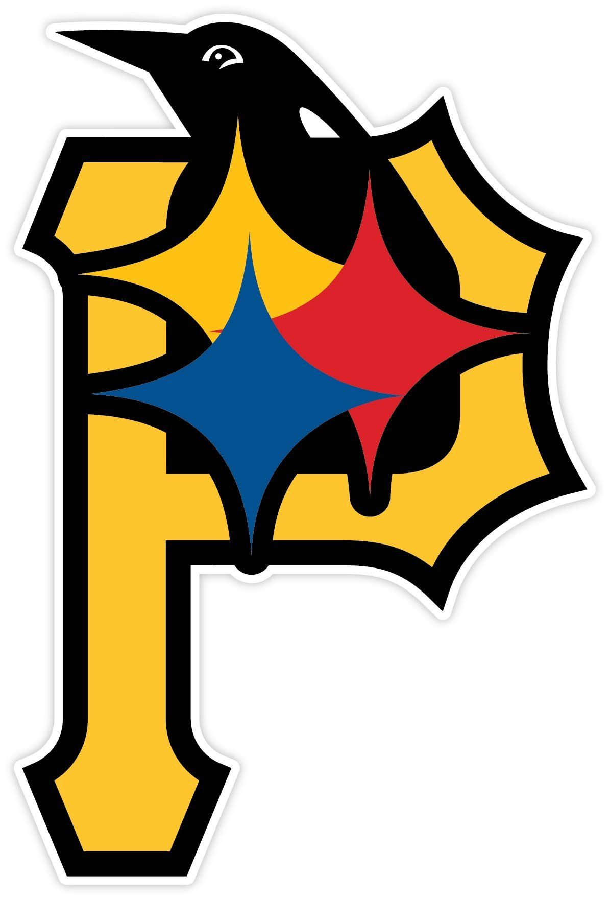 pittsburgh fan sport logo 4 x5 5 sticker decal vinyl steelers rh pinterest co uk pittsburgh steelers logo images printable