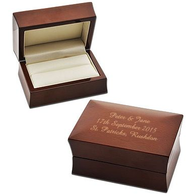 Double Wedding Ring Wooden Box (can be personalised)