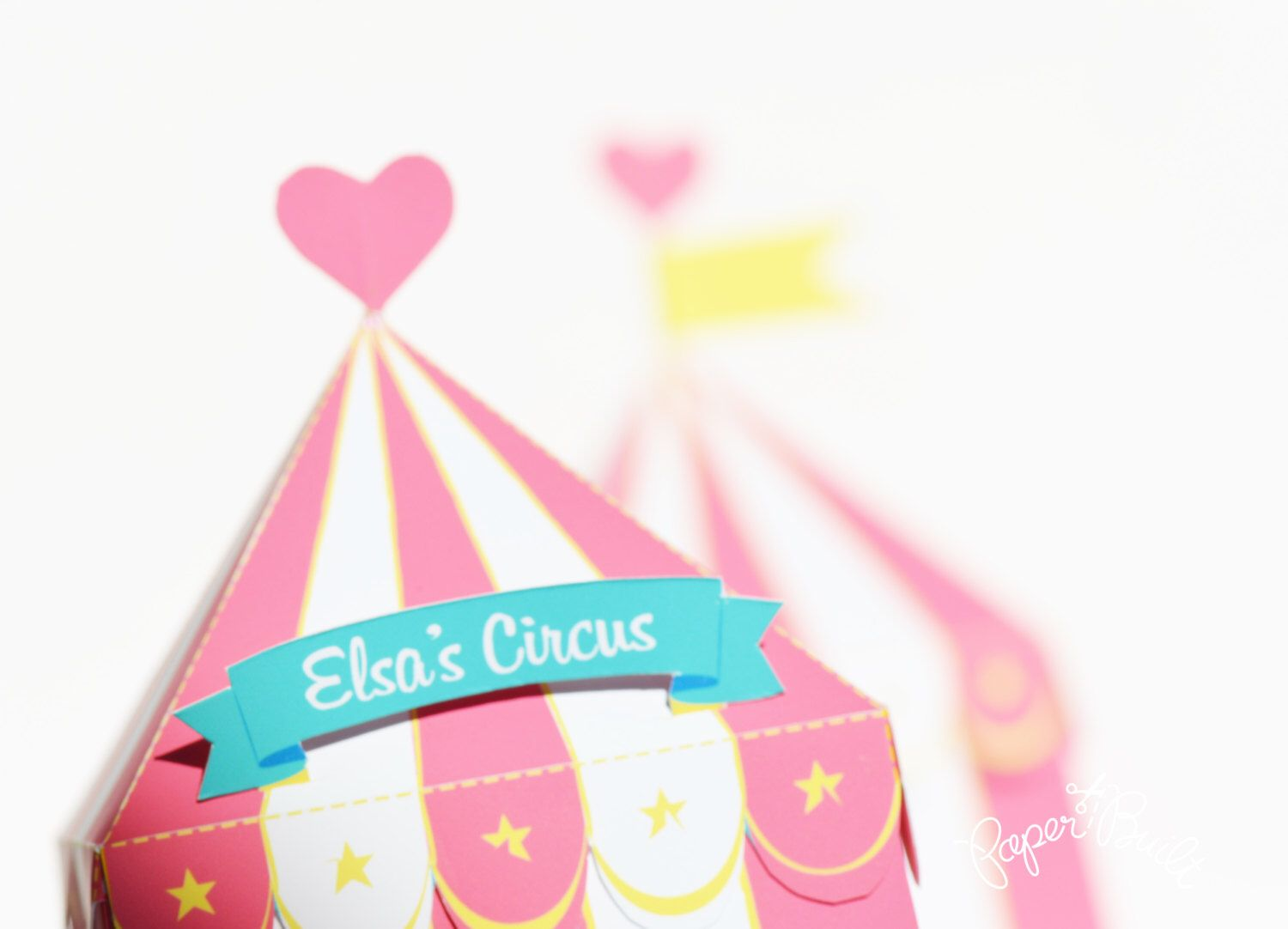 Circus Tent Favor Box, Gift Box, Girly Party, Circus Party Favor ...