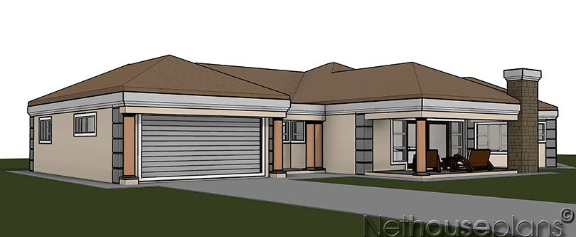 363m2 House Plan For Sale South African Designs Nethouseplansnethouseplans Single Storey House Plans House Plans For Sale House Plans South Africa