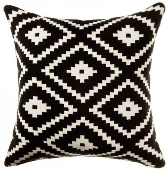 black cushion cover pillow case throw