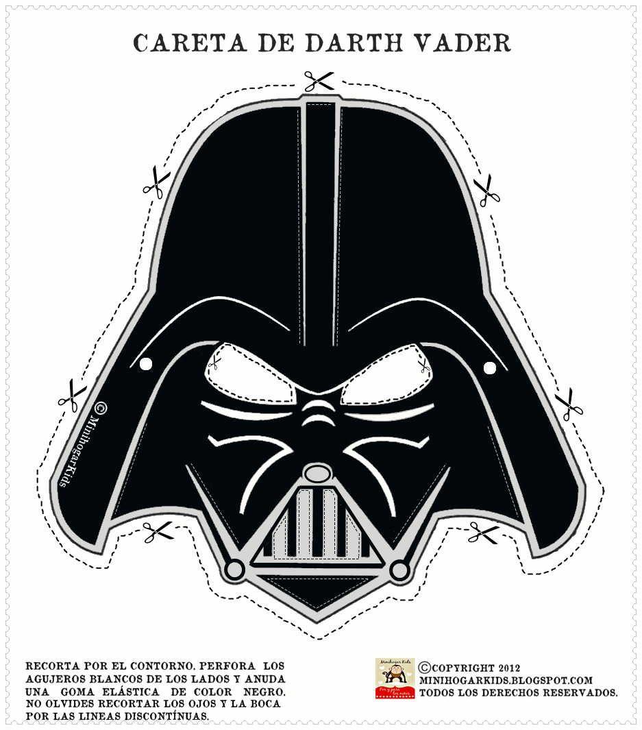 Moderno Máscara De Darth Vader Para Colorear Foto - Dibujos Para ...