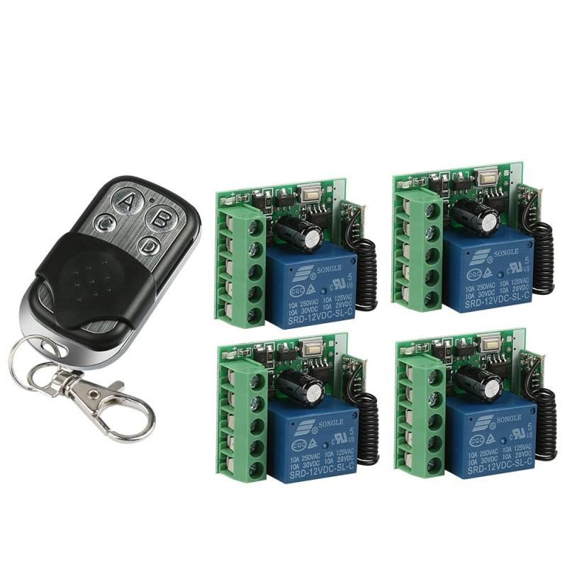 433mhz Universal Wireless Remote Control Switch Dc 12v 10a 1ch Relay Receiver Module And Rf 433 Mhz Transmitt Code Switching Transmitter Electronic Accessories