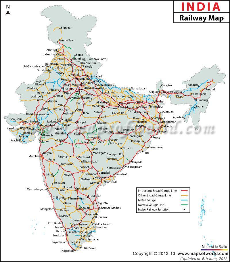 train route map india India Railway Map India Railway India Map Indian Railways train route map india