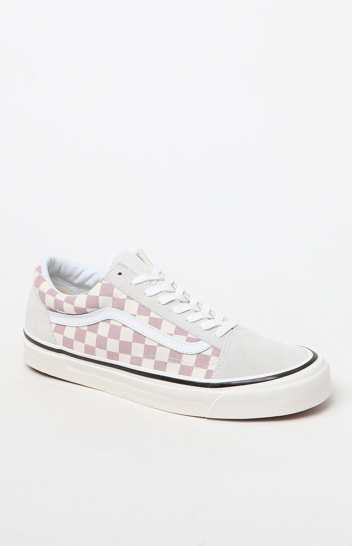 pink checkered vans pacsun