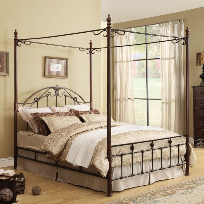 Home Creek Cast Iron Metal Canopy Bed At Brookstone Buy Now