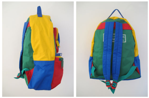 post backpack 90s primary colors colorblock