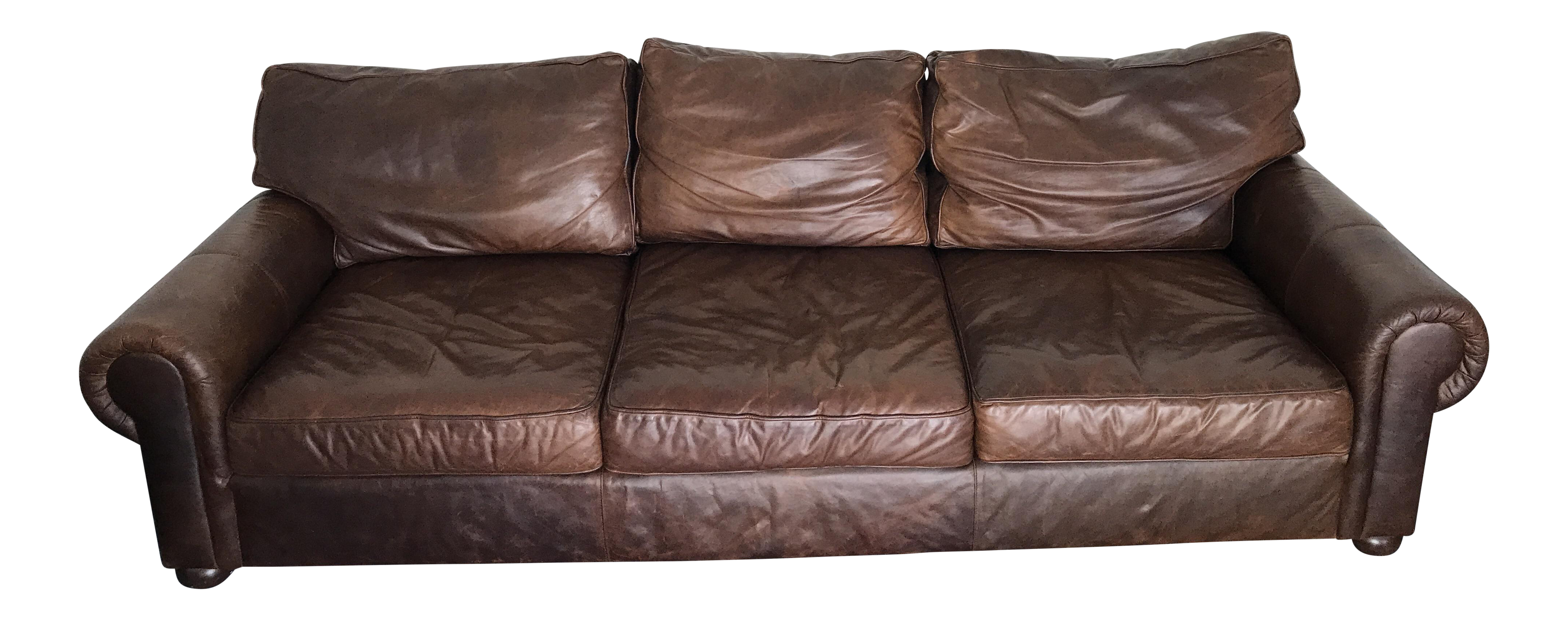 Lexington Brompton Style Italian Leather Couch Couch Sofa Furniture