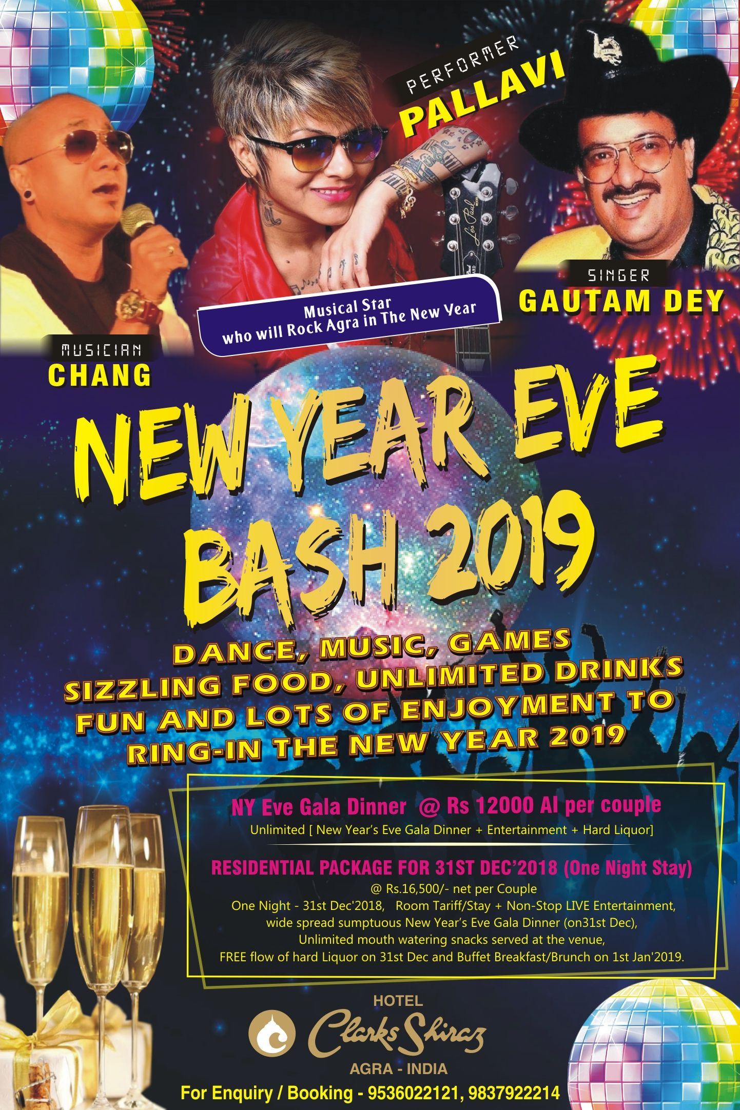 NEW YEAR EVE BASH 2019 DANCE, MUSIC, GAMES, SIZZLING FOOD