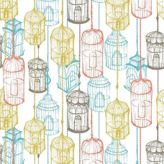 EN SOLDES A LA BOITASCRAP http://boitascrap.com/menu-59-soldes_ete_2014_tissu_mercerie.html Tissu à la Coupe - Coton Cushion & Dust Cage à Oiseaux (Largeur 110cm)   La Boit'A Scrap : La caverne aux merveilles pour les passionnés de ...